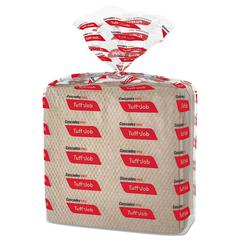 Tuff-Job Paper Wipers, 12 x 13, Quarterfold, Brown, 50/Band, 16 Pack/Carton