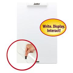"""Justick Frameless Electro-Surface Dry-Erase Board w/Clear Overlay, 16"""" x 24"""", WE"""