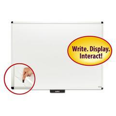 "Justick Premium Aluminum-Frame Electro-Surface Dry-Erase Board, 48"" x 36"", White"