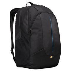 "Prevailer 17"" Laptop Backpack, 12 1/2 x 12 1/4 x 18, Black with Blue Accent"