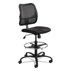 Vue Series Mesh Extended Height Chair, Acrylic Fabric Seat, Black