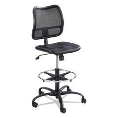 Vue Series Mesh Extended Height Chair, Vinyl Seat, Black