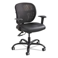 Vue Intensive Use Mesh Task Chair, Vinyl Seat, Black