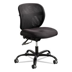 Vue Intensive Use Mesh Task Chair, Polyester Seat, Black