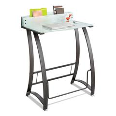 Xpressions Stand-Up Workstation, 35w x 23d x 49h, Frosted/Black