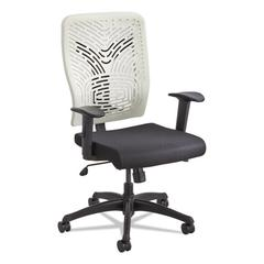 Voice Series Task Chair, Plastic Back, Upholstered Seat, Black Seat/Latte Back