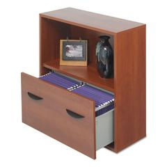 Après File Drawer Cabinet With Shelf, 29 3/4w x 11 3/4d x 29 3/4h, Cherry