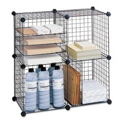 Wire Cube Shelving System, 15w x 15d x 15h, Black