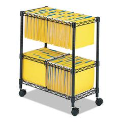 Two-Tier Rolling File Cart, 25-3/4w x 14d x 29-3/4h, Black