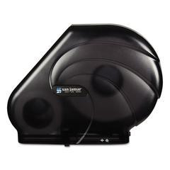 Oceans Reserva Jumbo Tissue Dispenser w/Stub, 16-3/4x5-1/2x12-1/4, Black Pearl