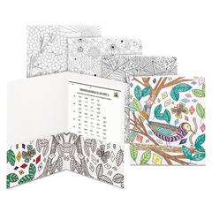 Two-Pocket Coloring Folder, 11 x 8 1/2, Assorted Designs, 12/Pack
