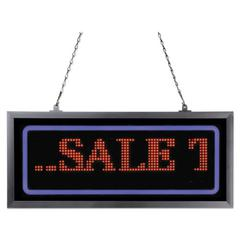 """Programmable LED Message Board with Blue Border, 11"""" x 25"""", Red/Blue"""