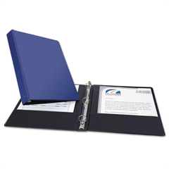 "Economy Non-View Binder with Round Rings, 11 x 8 1/2, 1"" Capacity, Blue"