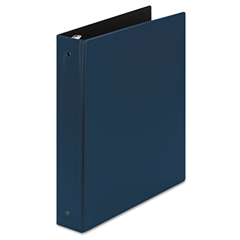 """Economy Non-View Binder with Round Rings, 11 x 8 1/2, 1 1/2"""" Capacity, Blue"""