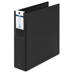 "Economy Non-View Binder with Round Rings, 11 x 8 1/2, 3"" Capacity, Black"