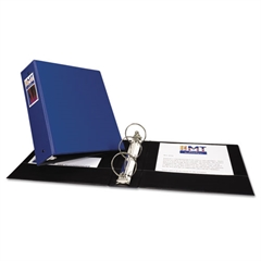 "Economy Non-View Binder with Round Rings, 11 x 8 1/2, 3"" Capacity, Blue"