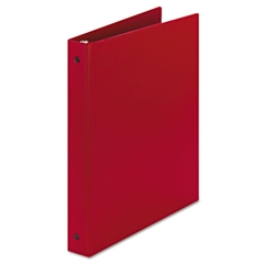 """Economy Non-View Binder with Round Rings, 11 x 8 1/2, 1"""" Capacity, Red"""