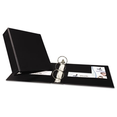 """Economy Non-View Binder with Round Rings, 11 x 8 1/2, 3"""" Capacity, Black"""