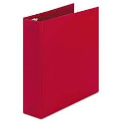 "Economy Non-View Binder with Round Rings, 11 x 8 1/2, 2"" Capacity, Red"