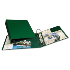 """Heavy-Duty Binder with One Touch EZD Rings, 11 x 8 1/2, 2"""" Capacity, Green"""
