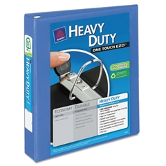 """Heavy-Duty View Binder w/Locking 1-Touch EZD Rings, 1 1/2"""", Periwinkle"""