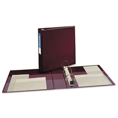 """Heavy-Duty Binder with One Touch EZD Rings, 11 x 8 1/2, 2"""" Capacity, Maroon"""