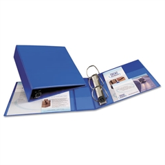 "Heavy-Duty Binder with One Touch EZD Rings, 11 x 8 1/2, 3"" Capacity, Blue"