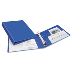 """Heavy-Duty Binder with One Touch EZD Rings, 11 x 8 1/2, 1"""" Capacity, Blue"""