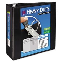 "Heavy-Duty View Binder w/Locking 1-Touch EZD Rings, 4"" Cap, Black"