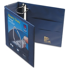 "Heavy-Duty View Binder w/Locking 1-Touch EZD Rings, 4"" Cap, Navy Blue"