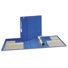 "Heavy-Duty Binder with One Touch EZD Rings, 11 x 8 1/2, 4"" Capacity, Blue"