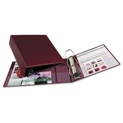"""Heavy-Duty Binder with One Touch EZD Rings, 11 x 8 1/2, 3"""" Capacity, Maroon"""