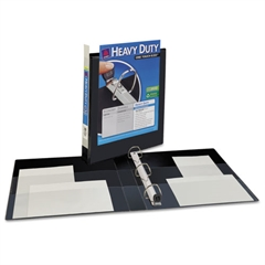 "Heavy-Duty View Binder w/Locking 1-Touch EZD Rings, 1"" Cap, Black"