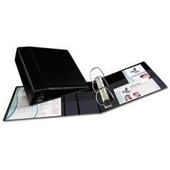 "Heavy-Duty Binder with One Touch EZD Rings, 11 x 8 1/2, 4"" Capacity, Black"