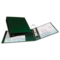 "Heavy-Duty Binder with One Touch EZD Rings, 11 x 8 1/2, 3"" Capacity, Green"