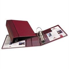 "Heavy-Duty Binder with One Touch EZD Rings, 11 x 8 1/2, 4"" Capacity, Maroon"