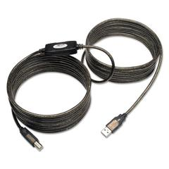 USB 2.0 Active Repeater Cable, 25 ft, Black