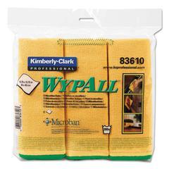 Microfiber Cloths, Reusable, 15 3/4 x 15 3/4, Yellow, 6/Pack