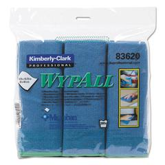 Microfiber Cloths, Reusable, 15 3/4 x 15 3/4, Blue, 6/Pack