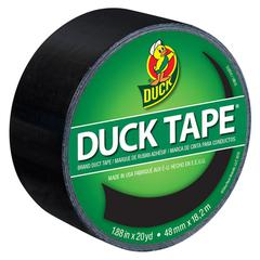 """Colored Duct Tape, 9 mil, 1.88"""" x 20 yds, 3"""" Core, Black"""