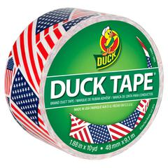 "Colored Duct Tape, 9 mil, 1.88"" x 10 yds, 3"" Core, US Flag"