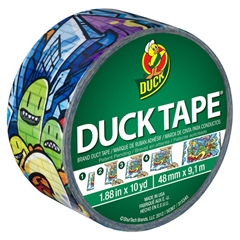 """Colored Duct Tape, 9 mil, 1.88"""" x 10 yds, 3"""" Core, Graffiti"""