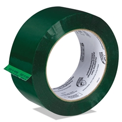 """Commercial Grd Color-Coding Packaging Tape, 1.88"""" x 109.3yds, 3"""" Core, Green"""