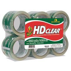 "Heavy-Duty Carton Packaging Tape, 3"" x 55yds, Clear, 6/Pack"