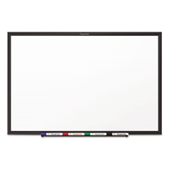 Classic Series Melamine Dry Erase Board, 36 x 24, White Surface, Black Frame
