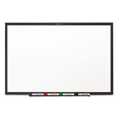 Classic Series Melamine Dry Erase Board, 48 x 36, White Surface, Black Frame