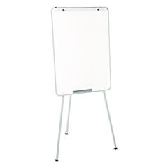 Oval Office Dry Erase Presentation Easel, Melamine, 29 x 40, Gray, Framed