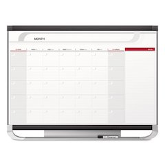 Prestige 2 Total Erase Monthly Calendar, 36 x 24, Graphite Color Frame