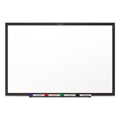Classic Series Melamine Dry Erase Board, 24 x 18, White Surface, Black Frame