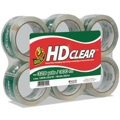 "Heavy-Duty Carton Packaging Tape, 1.88"" x 55yds, Clear, 6 Rolls"